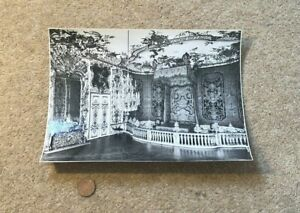 Vintage German B/W Photograph Residenz-Museum Fancy PAINTED House Interior