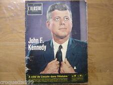 28 novembre 1963 L' ILLUSTRE Revue Suisse J.F.K. KENNEDY a cote de Lincoln