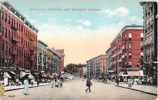 c.1910 Stores Claremont Parkway & Bathgate Ave. Bronx NY post card