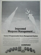 1/1980 PUB CONRAC PROGRAMMABLE STORES MANAGEMENT SYSTEM F/A-18 WEAPON MISSILE AD