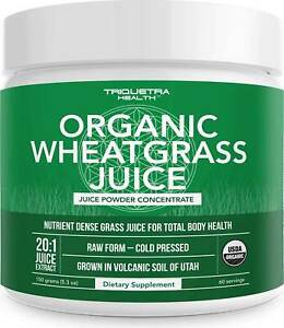 Organic Wheatgrass Juice by Triquetra Health, 5.3 oz powder