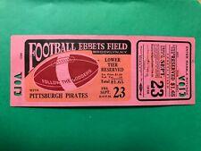 9/23 1938 NFL FULL TICKET PITTSBURGH PIRATES @ BROOKLYN DODGERS EBBETS FIELD