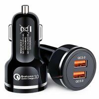 2Ports Fast Car Charger 48W Qualcomm Quick Charge QC 3.0 USB C Car Phone Charger