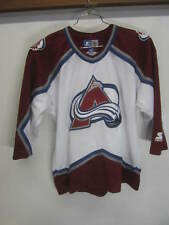 vtg Colorado Avalanche Hockey Jersey white Starter youth sz L/XL
