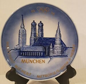 """1972 Olympic Games Munich Decorative Plate by GOEBEL West Germany 7 1/2"""""""