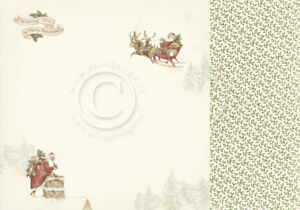 """Pion Design - Let's Be Jolly - SANTA CLAUS IS COMING - 12x12"""" d/sided paper"""