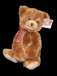 "Gund Booker Teddy Bear Plush Glasses 44406 Hangtag 10"" Stuffed Animal"