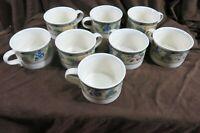 8 Mikasa Golden Harvest Intaglio Cups Tea Cups Coffee Cups