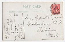 Miss Carpenter-Garnier, Rookesbury Park, Wickham, 1919 Postcard, B276