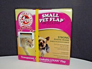 "Ideal Pet Products Small Pet Door Flap Strong Lexan Plastic 6¼"" x 6¼"" New (W)"