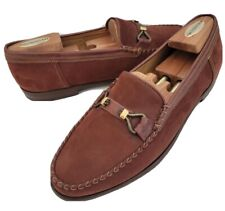 Lknw Bally Brown Suede Leather Napoli Dress Loafers Shoes Mens 11.5 10.5Uk 44.5E