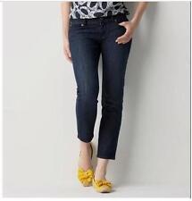 NWT ANN TAYLOR LOFT Original Cropped 5 Pocket Jeans  $54.50  Dark Wash