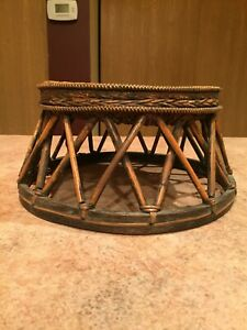 OLD THAI OR HILL TRIBE CHILD HANDCRAFTED SEAT ARTIFACT
