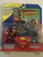 NIB Kenner Superman Man of Steel  HUNTER PREY SUPERMAN/DOOMSDAY Action Figures