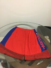 Philadelphia Phillies Majestic Cool Base Red Blue Shorts Large Excellent Cond