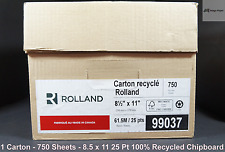 """8.5"""" x 11"""" 25PT Padding Chipboard 100% Recycled 750 Sheets per Carton Low Price"""