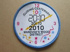 Centenary 2010 Warenne's Wood Girl Guides Cloth Patch Badge (L4K)
