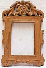 Wooden Photograph Frame With Hand Carved Antique Design Made Of Ash Wood WO 81