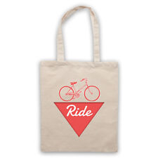 RIDE BIKE FANATIC LOVE OF CYCLING BICYCLE ENTHUSIAST SHOULDER TOTE SHOP BAG