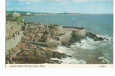 Postcard Anchor Head Weston-Super-Mare Somerset PM 1976  (A12)