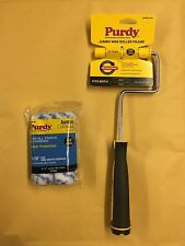 """Purdy Jumbo Mini Roller Frame Plus 2 x 4.5"""" Colossus 1/2"""" Nap Paint Rollers"""