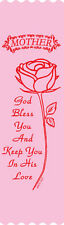 """""""Mother God Bless You"""" Mother's Day Bible Bookmark Ribbons, pack of 10"""