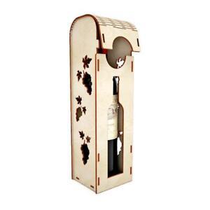 Wood Wine Spirits Wedding Unique Gift Box Personalized Single Bottle Carry Case