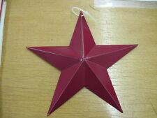 "3.5"" burgundy Barn Star Metal Primitive"