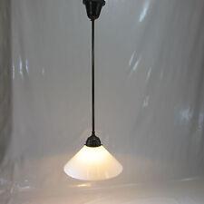 Antik Stil Hängelampe Schneeweißer Opalglas Schusterschirm Vintage Deckenlampe