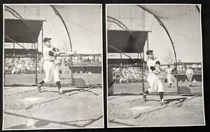 "1950s Jerry Lewis Playing Baseball Type 1 Oversized 11 x 14"" DBW Photos (5)"