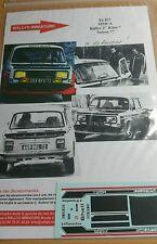 Decals 1/24 réf 837 Simca Rallye 2 Kitee Saison 1977