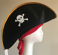 Adults Pirate Captain Hat Skull Crossbone Cap Party Costume Pirate Hat Dress Up