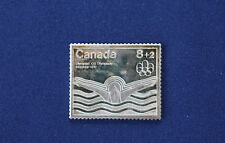 1976 Canada Post Montreal Olympic 8+2 Stamp Fractional .999 Silver Art Bar P0029