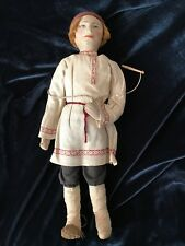 Rare Stockinette Doll  on a Wooden stand 1920's Russian/Soviet Union
