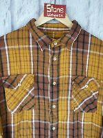 Levis Vintage Clothing LVC 1950s Brown Checked Shorthorn Western Shirt £189 L