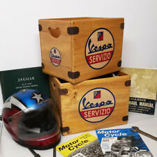 "Vintage Vespa Record Box Large 80 Album Crate 12"" Vinyl The Jam Mod Lambretta"