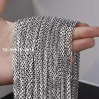 Fashion Silver Stainless Steel 3/5mm Bulk Of Factory Wholesale Round Rolo Chains