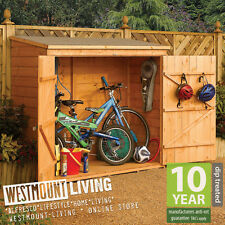 6x3FT 6 x 3 6x3 FT SHIPLAP T&G SMALL BIKE SHED WOODEN TOOL STORE LOG STORAGE NEW