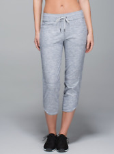 LULULEMON Keep it Cool heather gray crop stretch french terry drawstring pants