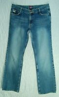 Soft Worn Faded ZIPPER Pocket COLOR STITCHED Low Flare FIORUCCI Jeans! 9