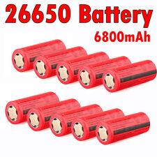10PC 3.7V 6800mAh Li-ion Batteries Rechargeable 26650 Battery For Flashlight etc