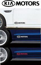 For Kia - 2 x 'KIA MOTORS' DOOR - CAR DECAL STICKER  - CEE'D  RIO - 295mm long