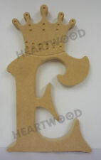 CROWN VICTORIAN LETTERS IN MDF (180mm x 18mm thick)/WOODEN CRAFT SHAPE/BLANK