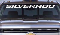 Chevrolet SILVERADO Windshield Graphic Vinyl Decal Sticker Vehicle Logo Chevy
