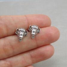 Buffalo Post Earrings - 925  Sterling Silver - American Bison Stud Earrings NEW