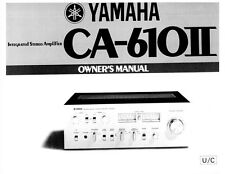 Yamaha CA-610II Amplifier Owners Manual