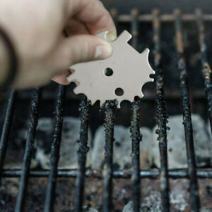 Portable Metal BBQ Grills Grate Cleaner Barbecue Scraper Scrubber Cleaning Tool