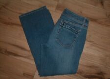 WHITE HOUSE BLACK MARKET STRETCH DENIM BLUE JEAN CAPRI PANTS SIZE 10