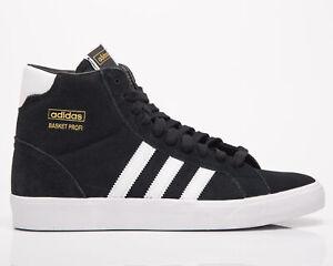 adidas Originals Basket Profi Men's Black White Gold Lifestyle Sneakers Shoes