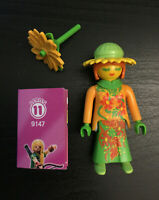 Playmobil Series 11 (9147): Sunflower girl + sunflower + checklist, new